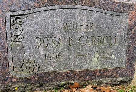 CARROLL, DONA B - Conway County, Arkansas | DONA B CARROLL - Arkansas Gravestone Photos