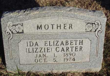 CARTER, IDA ELIZABETH (LIZZIE) - Conway County, Arkansas | IDA ELIZABETH (LIZZIE) CARTER - Arkansas Gravestone Photos