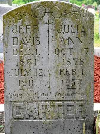 CARTER, JEFF DAVIS - Conway County, Arkansas | JEFF DAVIS CARTER - Arkansas Gravestone Photos