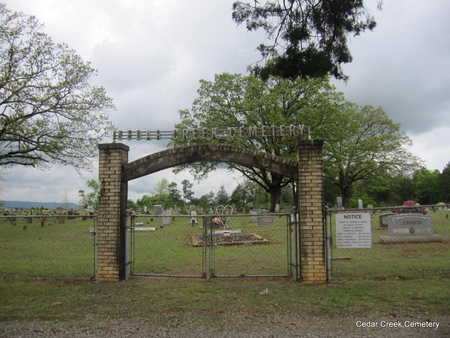 *CEDAR CREEK CEMETERY GATE,  - Conway County, Arkansas |  *CEDAR CREEK CEMETERY GATE - Arkansas Gravestone Photos