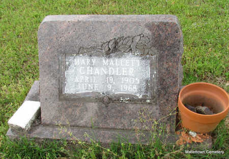 MALLETT CHANDLER, MARY LUCILLE - Conway County, Arkansas | MARY LUCILLE MALLETT CHANDLER - Arkansas Gravestone Photos
