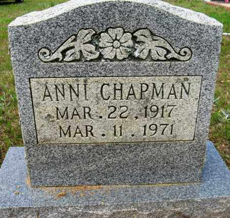 CHAPMAN, ANNI - Conway County, Arkansas | ANNI CHAPMAN - Arkansas Gravestone Photos