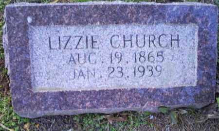 CHURCH, LIZZIE - Conway County, Arkansas | LIZZIE CHURCH - Arkansas Gravestone Photos