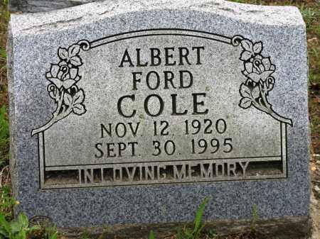 COLE, ALBERT FORD - Conway County, Arkansas | ALBERT FORD COLE - Arkansas Gravestone Photos