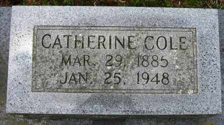 COLE, CATHERINE - Conway County, Arkansas | CATHERINE COLE - Arkansas Gravestone Photos