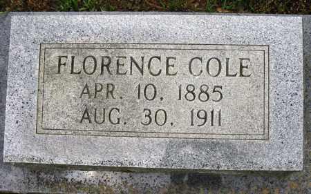 COLE, FLORENCE - Conway County, Arkansas   FLORENCE COLE - Arkansas Gravestone Photos