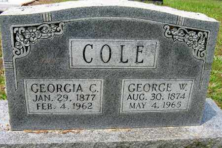 COLE, GEORGIA C - Conway County, Arkansas | GEORGIA C COLE - Arkansas Gravestone Photos