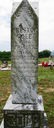 COLE, PRESTON - Conway County, Arkansas | PRESTON COLE - Arkansas Gravestone Photos