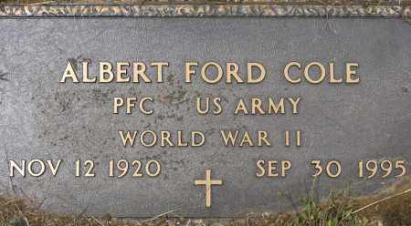 COLE (VETERAN WWII), ALBERT FORD - Conway County, Arkansas | ALBERT FORD COLE (VETERAN WWII) - Arkansas Gravestone Photos
