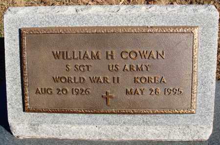 COWAN  (VETERAN 2 WARS), WILLIAM H - Conway County, Arkansas | WILLIAM H COWAN  (VETERAN 2 WARS) - Arkansas Gravestone Photos