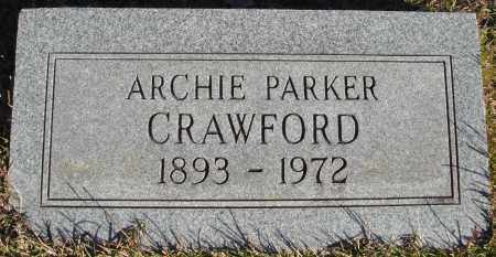 CRAWFORD, ARCHIE PARKER - Conway County, Arkansas | ARCHIE PARKER CRAWFORD - Arkansas Gravestone Photos
