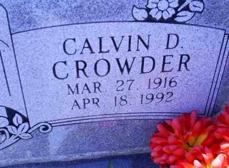 CROWDER, CALVIN D. - Conway County, Arkansas | CALVIN D. CROWDER - Arkansas Gravestone Photos