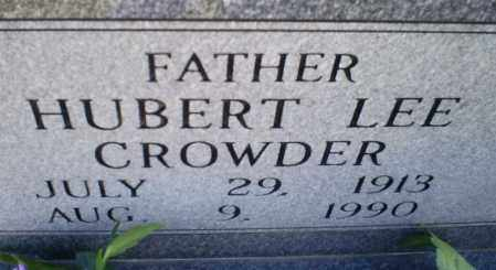 CROWDER, HUBERT LEE - Conway County, Arkansas | HUBERT LEE CROWDER - Arkansas Gravestone Photos