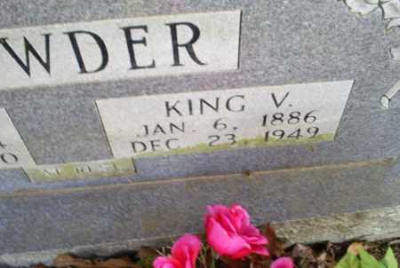 CROWDER, KING V. - Conway County, Arkansas | KING V. CROWDER - Arkansas Gravestone Photos