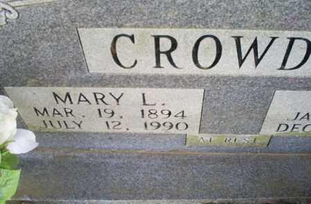 CROWDER, MARY L. - Conway County, Arkansas | MARY L. CROWDER - Arkansas Gravestone Photos