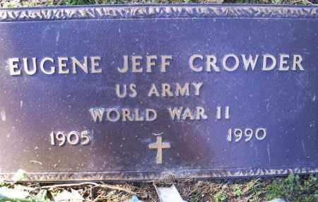 CROWDER (VETERAN WWII), EUGENE JEFF - Conway County, Arkansas | EUGENE JEFF CROWDER (VETERAN WWII) - Arkansas Gravestone Photos