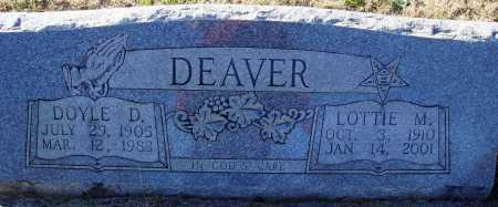 DEAVER, LOTTIE M. - Conway County, Arkansas | LOTTIE M. DEAVER - Arkansas Gravestone Photos