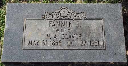 DEAVER, FANNIE J. - Conway County, Arkansas | FANNIE J. DEAVER - Arkansas Gravestone Photos