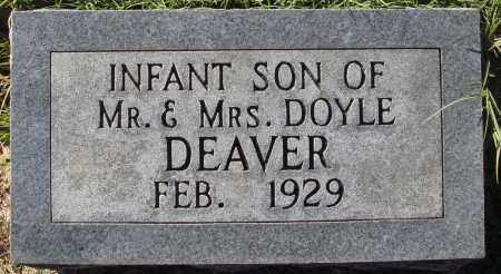 DEAVER, INFANT SON - Conway County, Arkansas | INFANT SON DEAVER - Arkansas Gravestone Photos