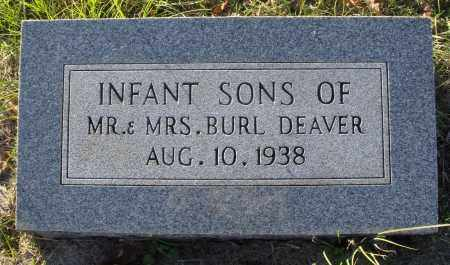DEAVER, INFANT SONS - Conway County, Arkansas | INFANT SONS DEAVER - Arkansas Gravestone Photos