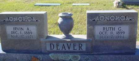 DEAVER, IRVIN A. - Conway County, Arkansas | IRVIN A. DEAVER - Arkansas Gravestone Photos
