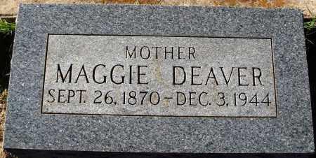 DEAVER, MAGGIE - Conway County, Arkansas | MAGGIE DEAVER - Arkansas Gravestone Photos