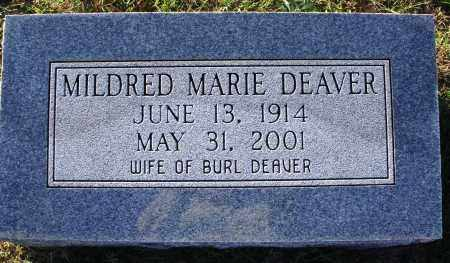 DEAVER, MILDRED MARIE - Conway County, Arkansas | MILDRED MARIE DEAVER - Arkansas Gravestone Photos