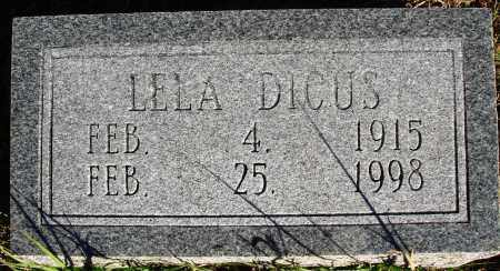 DICUS, LELA - Conway County, Arkansas | LELA DICUS - Arkansas Gravestone Photos