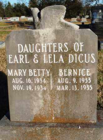 DICUS, MARY BETTY - Conway County, Arkansas | MARY BETTY DICUS - Arkansas Gravestone Photos
