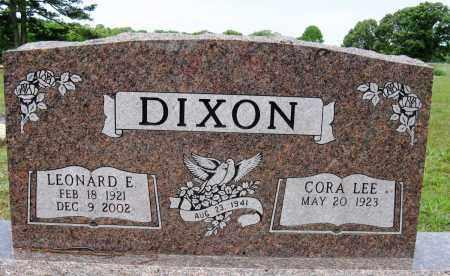 DIXON, LEONARD E - Conway County, Arkansas | LEONARD E DIXON - Arkansas Gravestone Photos