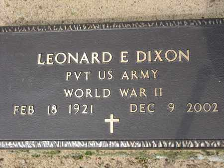 DIXON (VETERAN WWII), LEONARD E - Conway County, Arkansas | LEONARD E DIXON (VETERAN WWII) - Arkansas Gravestone Photos