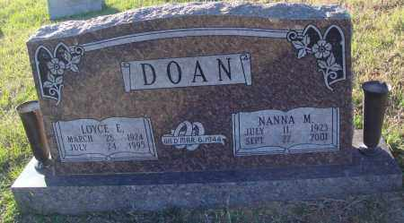 DOAN, NANNA M. - Conway County, Arkansas | NANNA M. DOAN - Arkansas Gravestone Photos