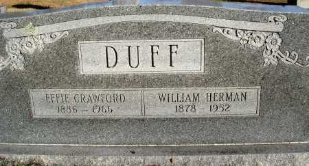 DUFF, WILLIAM HERMAN - Conway County, Arkansas | WILLIAM HERMAN DUFF - Arkansas Gravestone Photos