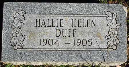 DUFF, HALLIE HELEN - Conway County, Arkansas | HALLIE HELEN DUFF - Arkansas Gravestone Photos