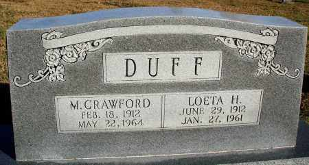 DUFF, M. CRAWFORD - Conway County, Arkansas | M. CRAWFORD DUFF - Arkansas Gravestone Photos