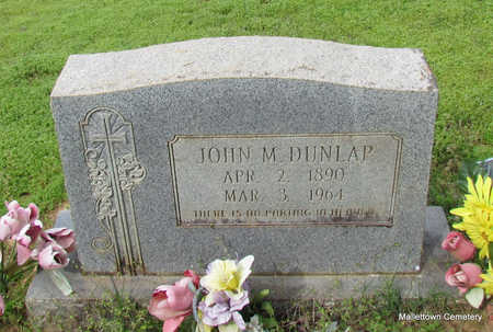 DUNLAP, JOHN M. - Conway County, Arkansas | JOHN M. DUNLAP - Arkansas Gravestone Photos