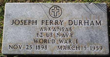DURHAM  (VETERAN WWI), JOSEPH PERRY - Conway County, Arkansas | JOSEPH PERRY DURHAM  (VETERAN WWI) - Arkansas Gravestone Photos