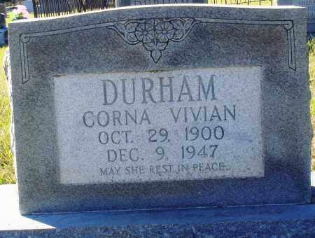 DURHAM, CORNA VIVIAN - Conway County, Arkansas | CORNA VIVIAN DURHAM - Arkansas Gravestone Photos