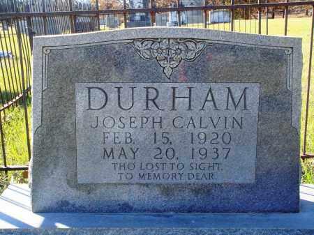 DURHAM, JOSEPH CALVIN - Conway County, Arkansas | JOSEPH CALVIN DURHAM - Arkansas Gravestone Photos