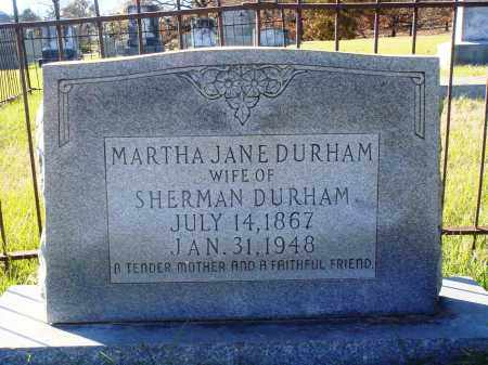 DURHAM, MARTHA JANE - Conway County, Arkansas | MARTHA JANE DURHAM - Arkansas Gravestone Photos