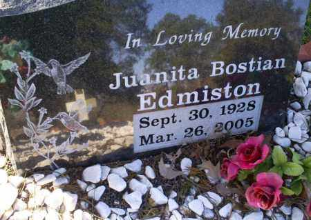 BOSTIAN EDMISTON, JUANITA - Conway County, Arkansas | JUANITA BOSTIAN EDMISTON - Arkansas Gravestone Photos