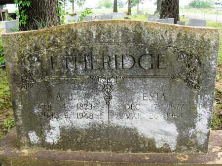 ETHERIDGE, A J - Conway County, Arkansas | A J ETHERIDGE - Arkansas Gravestone Photos
