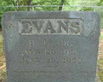 EVANS, JR., D. L. - Conway County, Arkansas | D. L. EVANS, JR. - Arkansas Gravestone Photos