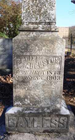 BAYLESS, FELIX AUGUSTUS - Conway County, Arkansas | FELIX AUGUSTUS BAYLESS - Arkansas Gravestone Photos