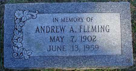 FLEMING, ANDREW A. - Conway County, Arkansas | ANDREW A. FLEMING - Arkansas Gravestone Photos