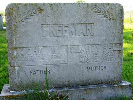FREEMAN, JOHN W - Conway County, Arkansas | JOHN W FREEMAN - Arkansas Gravestone Photos