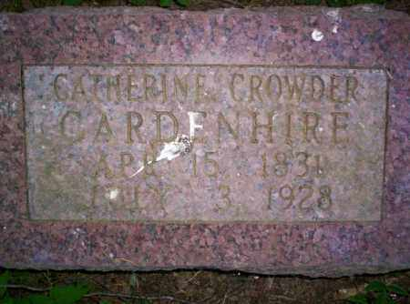 CROWDER GARDENHIRE, CATHERINE - Conway County, Arkansas | CATHERINE CROWDER GARDENHIRE - Arkansas Gravestone Photos