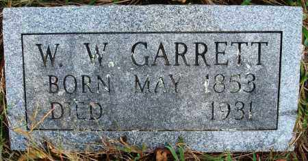 GARRETT, W W - Conway County, Arkansas | W W GARRETT - Arkansas Gravestone Photos