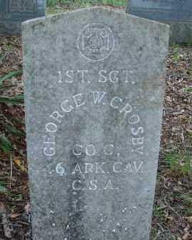 CROSBY  (VETERAN CSA), GEORGE W - Conway County, Arkansas | GEORGE W CROSBY  (VETERAN CSA) - Arkansas Gravestone Photos