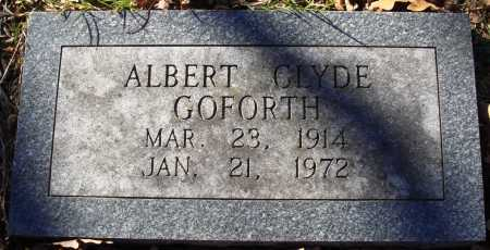 GOFORTH, ALBERT CLYDE - Conway County, Arkansas | ALBERT CLYDE GOFORTH - Arkansas Gravestone Photos